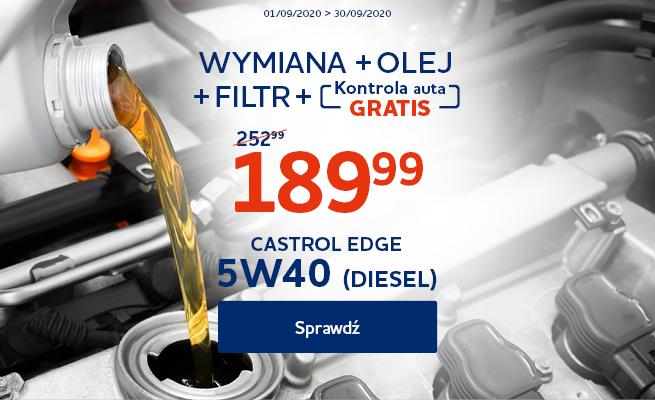Pakiet wymiana oleju Castrol Edge TD 5w40