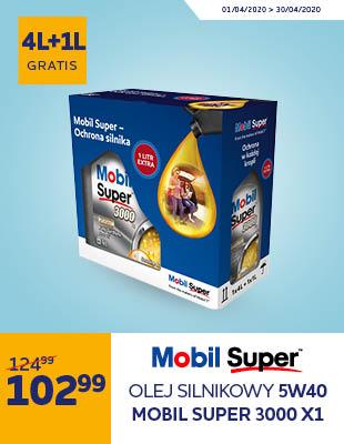Olej Silnikowy 5W40 MOBIL SUPER 3000 X1