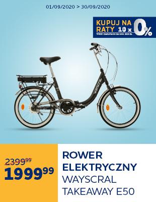 Rower elektryczny składany Wayscral Takeaway E50 hp