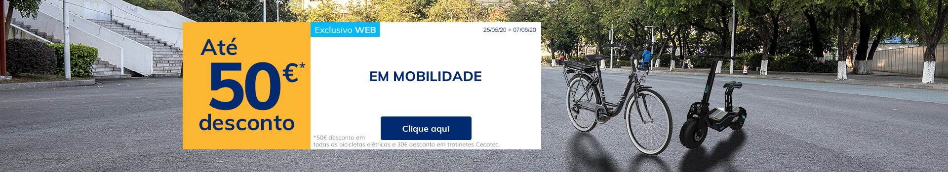 Até 50€ desconto em mobilidade