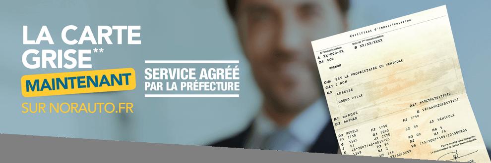 La carte grise maintenant sur norauto.fr