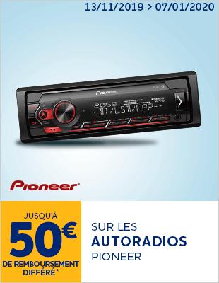 Jusqu à 50€ de remboursement différé sur les autoradios PIONEER
