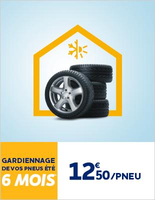 Gardiennage pneus à 12€50