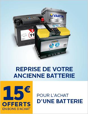 reprise batterie 15€