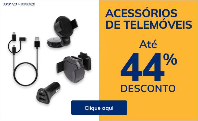 ACESSÓRIOS DE TELEMÓVEIS ATÉ 44% DESCONTO