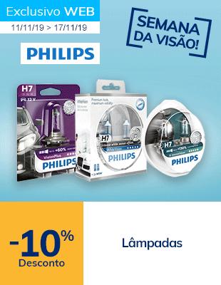 10% desconto em lâmpadas Philips