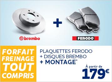 Forfaitisation freinage Ferodo/Brembo