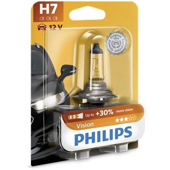 1 ampoule philips h7 vision 55w 12v. Black Bedroom Furniture Sets. Home Design Ideas