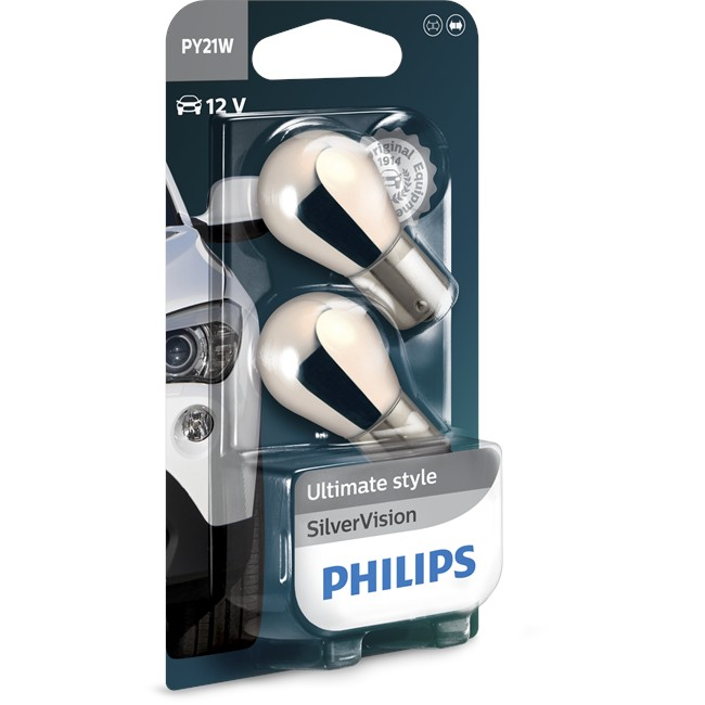 2 Ampoules Philips Silvervision Py21w 21 W 12 V
