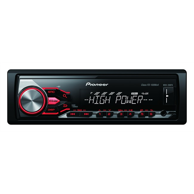 autoradio pioneer mvh 280fd. Black Bedroom Furniture Sets. Home Design Ideas