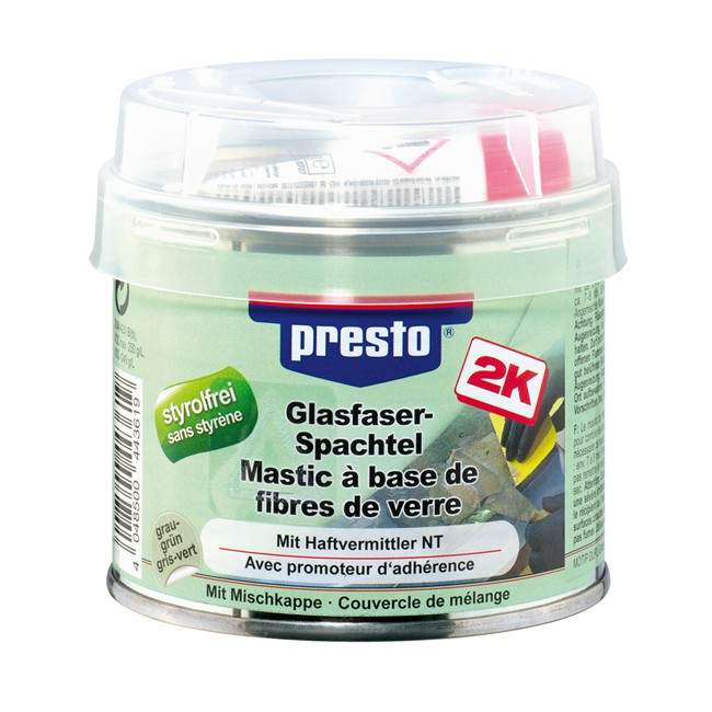 mastic fibre de verre avec durcisseur presto 250 g. Black Bedroom Furniture Sets. Home Design Ideas