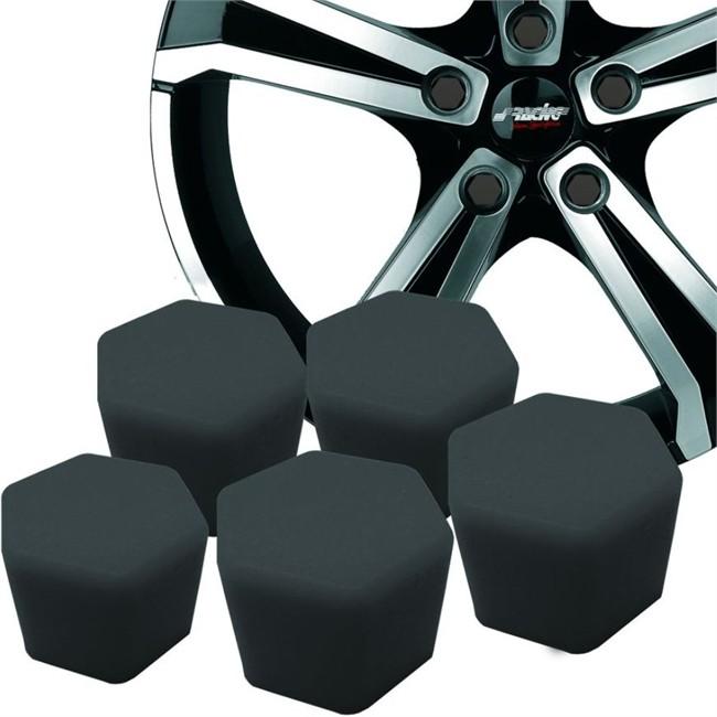 20 Couvres Boulons Silicone Noir Sracing Diamètre 17