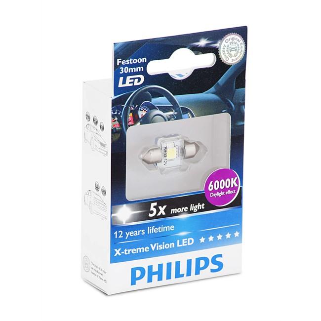 1 Ampoule Philips Navette C5w 30mm X-tremevision Led 6000k