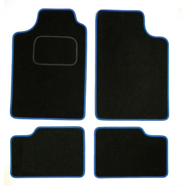 4 tapis voiture universels volga noirs et bleus. Black Bedroom Furniture Sets. Home Design Ideas