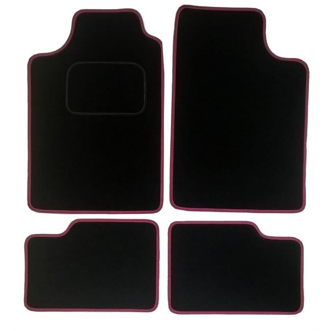 4 tapis voiture universels volga noirs et roses. Black Bedroom Furniture Sets. Home Design Ideas