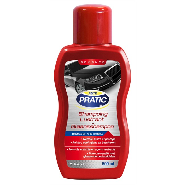 Shampoing lustrant auto pratic 500 ml - Shampoing lustrant voiture ...