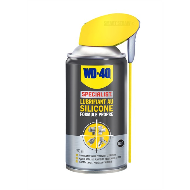 lubrifiant au silicone wd 40 specialist 250 ml. Black Bedroom Furniture Sets. Home Design Ideas