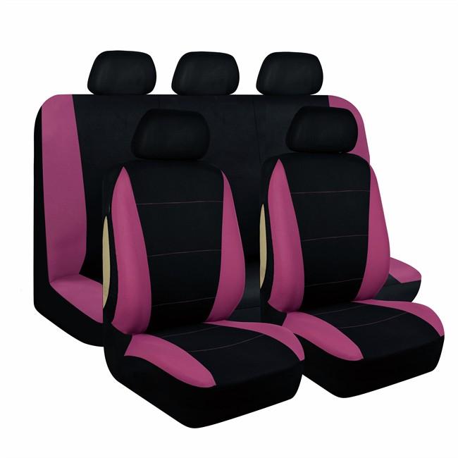Jeu complet de housses universelles voiture 1er prix for Housse voiture rose