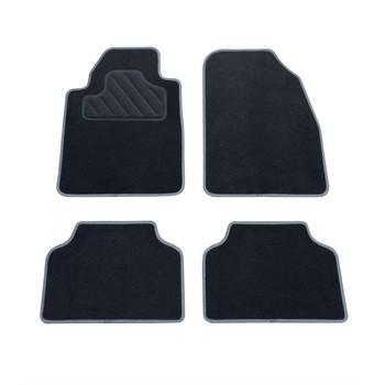 4 tapis voiture universels moquette jeanne noirs. Black Bedroom Furniture Sets. Home Design Ideas