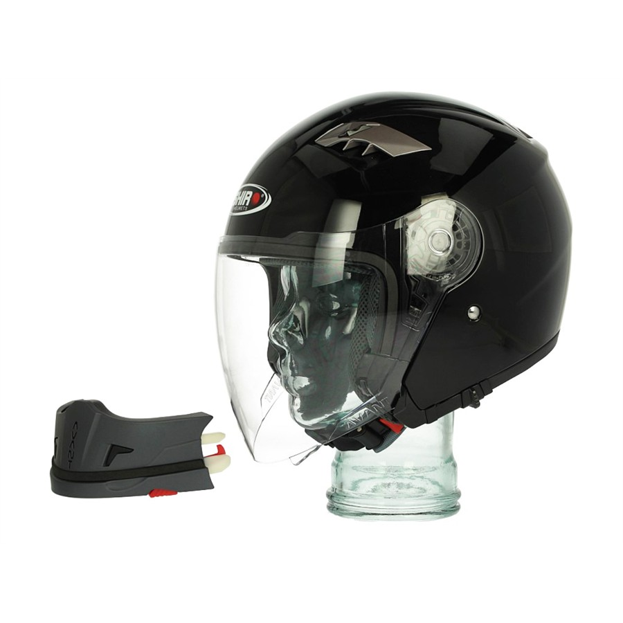 Casque modulable SHIRO SH414 noir brillant M