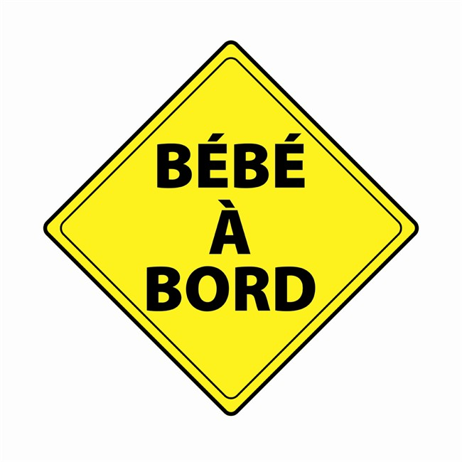 1 sticker autocollant b b bord. Black Bedroom Furniture Sets. Home Design Ideas
