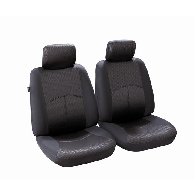 jeu de housses universelles 2 si ges avant voiture norauto ningbo noires. Black Bedroom Furniture Sets. Home Design Ideas