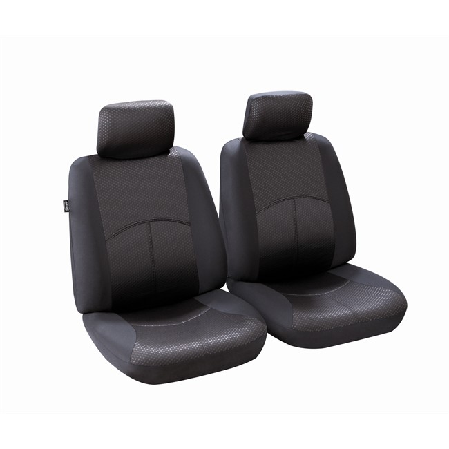 jeu de housses universelles 2 si ges avant voiture norauto ningbo noires. Black Bedroom Furniture Sets. Home Design Ideas