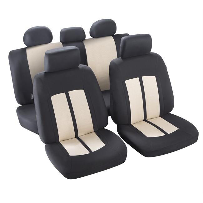 jeu complet de housses universelles voiture norauto new york cru noires berline. Black Bedroom Furniture Sets. Home Design Ideas