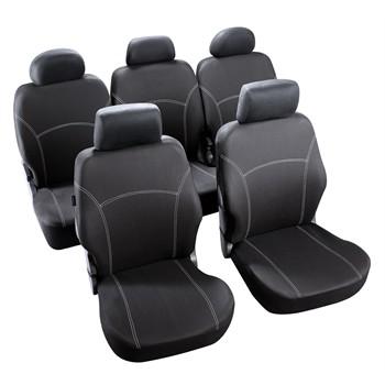 jeu complet de housses universelles voiture norauto phuket noires monospace. Black Bedroom Furniture Sets. Home Design Ideas