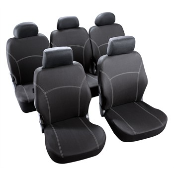 jeu complet de housses universelles voiture sp cial monospace norauto phuket noires. Black Bedroom Furniture Sets. Home Design Ideas
