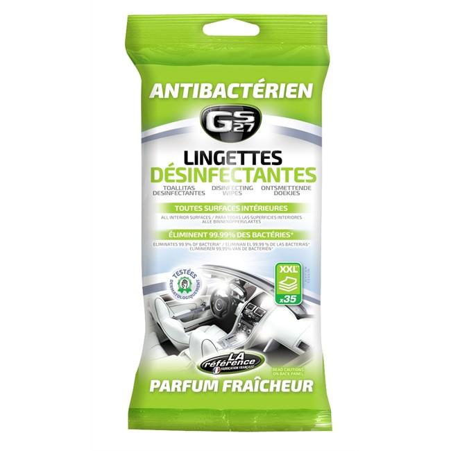 35 Lingettes Nettoyantes Désinfectantes Virucides Gs27