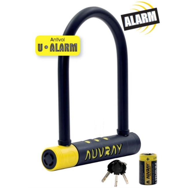 Antivol U Alarme 21 X 9 Cm, Diamètre 14 Pour Moto Et Vélo