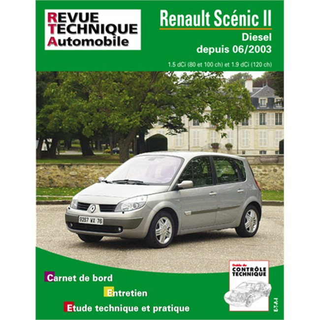 revue technique etai pour renault scenic phase 2 diesel partir de 2003. Black Bedroom Furniture Sets. Home Design Ideas