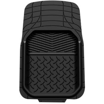 1 tapis de voiture universel conducteur en pvc bacquet noir. Black Bedroom Furniture Sets. Home Design Ideas