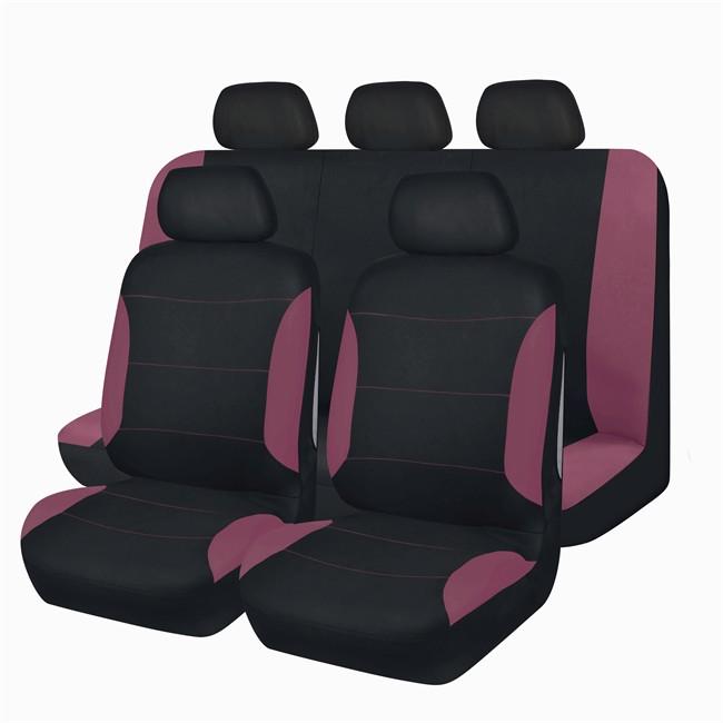 Jeu complet de housses universelles voiture spot noires et for Housse voiture rose