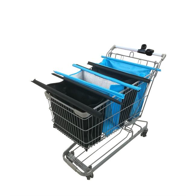 Multi-sacs Pour Chariot De Course Theo Bleu Et Noir