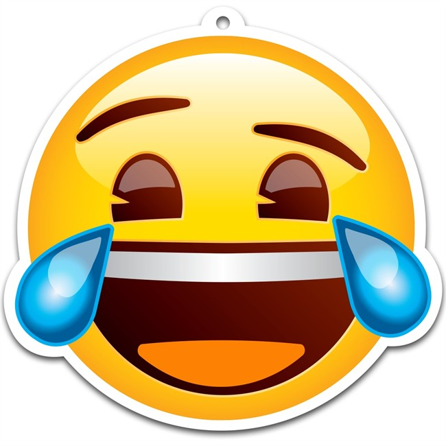Désodorisant Voiture Emoji Mdr Vanille Crème