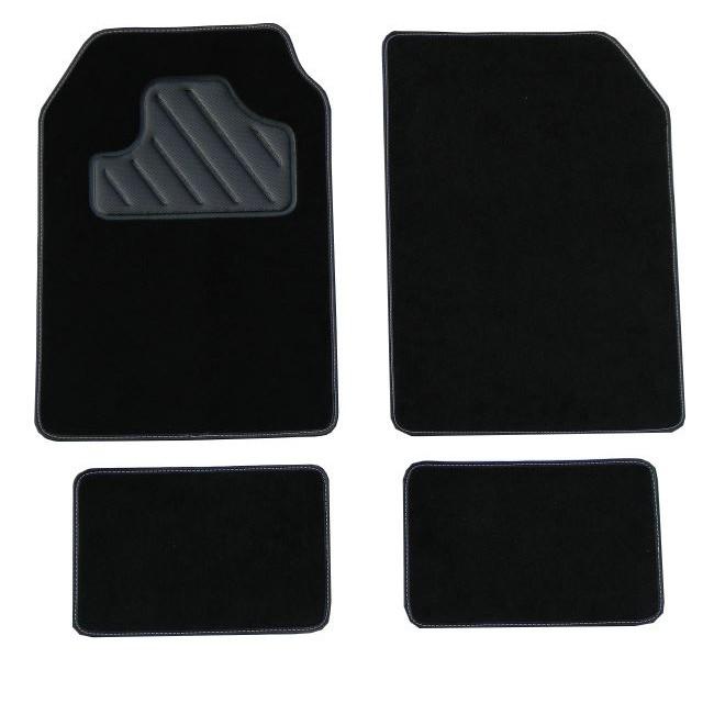 4 tapis de voiture universels moquette armada a400 noir ganse noire. Black Bedroom Furniture Sets. Home Design Ideas