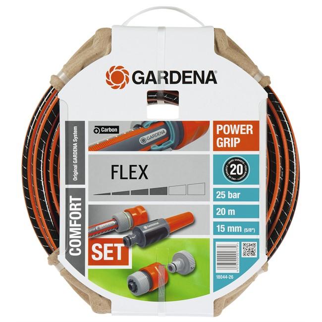 tuyau d 39 arrosage comfort flex 20 m diam 15 mm gardena. Black Bedroom Furniture Sets. Home Design Ideas