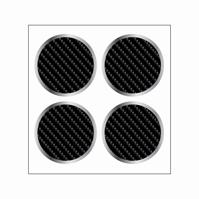 4 Stickers Autocollants Cache Moyeu Jante Cadox Style Carbone