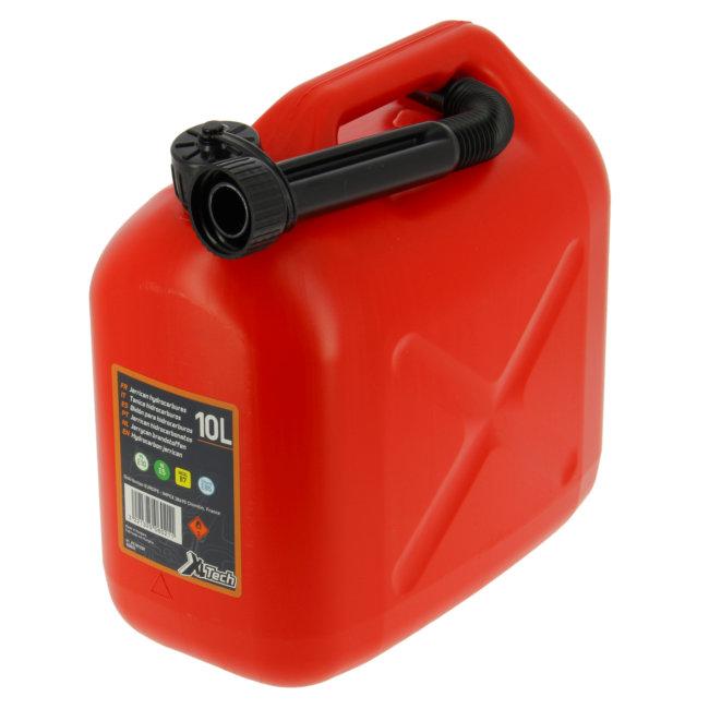 Jerrican Carburant En Plastique Rouge 10 L Xltech Norauto Fr