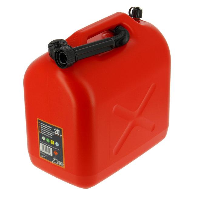Jerrican Carburant En Plastique Rouge 20 L Xltech