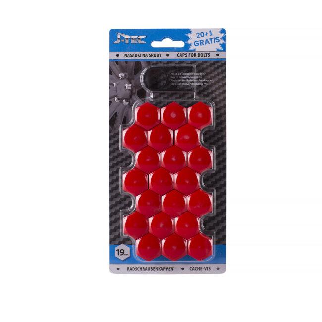 21 Couvres Boulons Rouges Diamètre 19