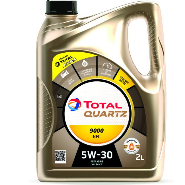Huile Moteur Total Quartz Essence 9000f Nfc 5w30 Essence Et Diesel 2 L