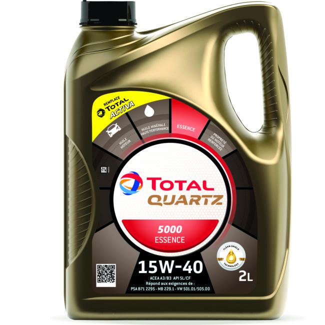 Huile Moteur Total Quartz 5000 Essence 15w40 2 L