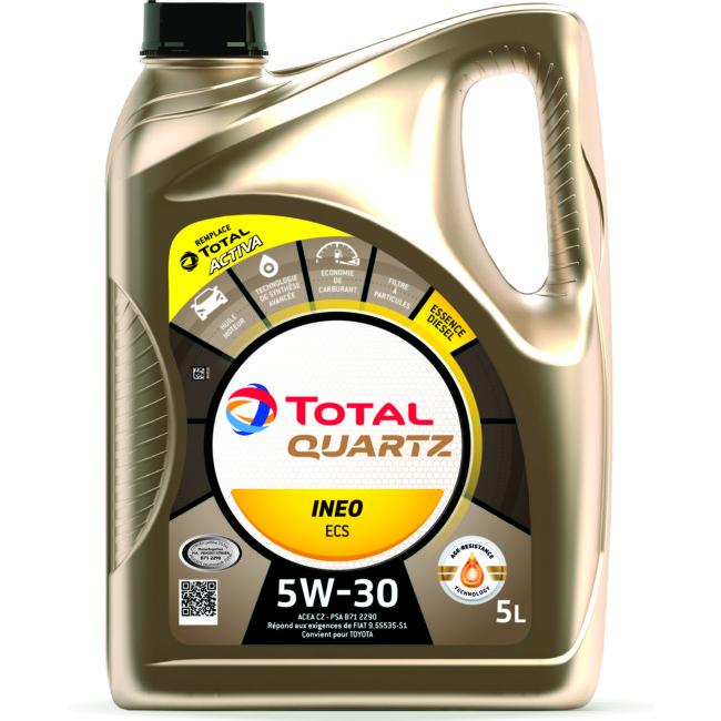 Huile Moteur Total Quartz Ineo Ecs 5w30 Essence Et Diesel 5 L