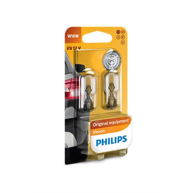 2 Ampoules Philips W16w 16w 12 V