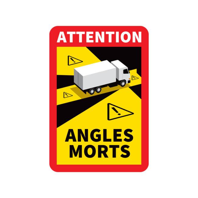 3 Adhésifs Règlementaires Angles Morts Pour Poids-lourds 25 X 17 Cm\
