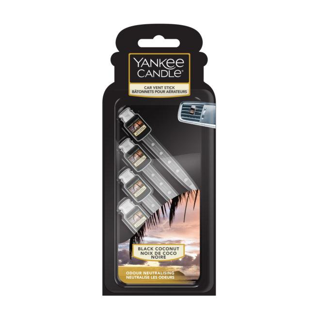 Désodorisant Voiture Yankee Candle Set De 4 Sticks Parfum Noix De Coco