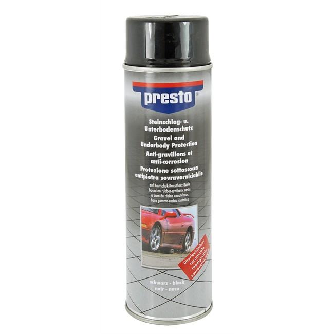 Spray Anti-gravillon Et Anticorrosion Noir Presto 500 Ml